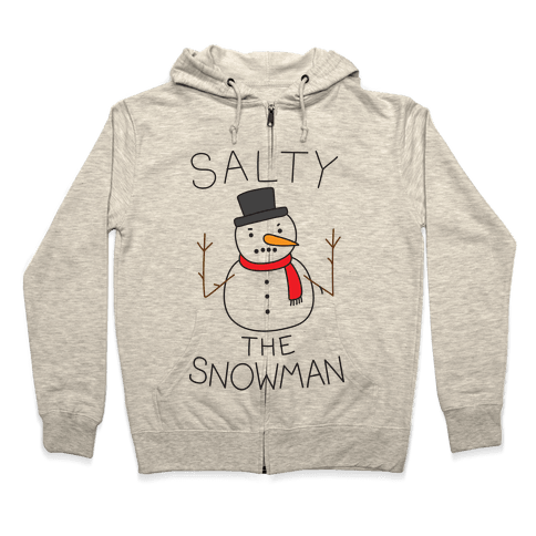 Salty The Snowman  Zip Hoodie
