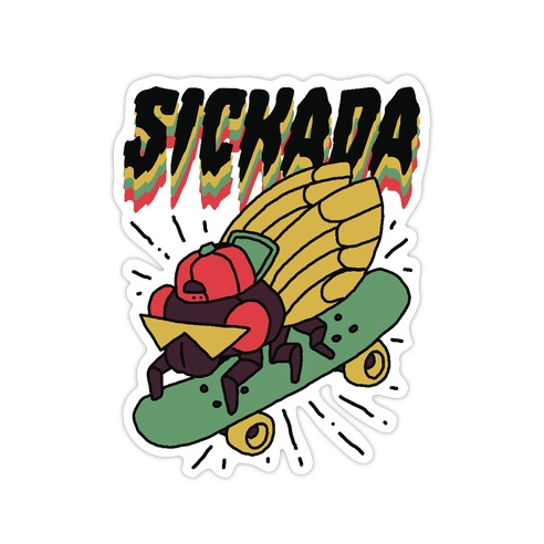 SICKada Cicada Die Cut Sticker