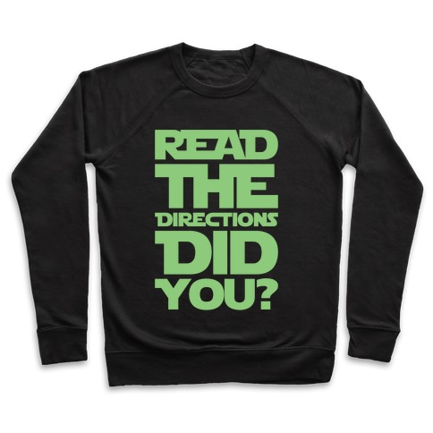 Read The Directions Did You Parody White Print Pullover