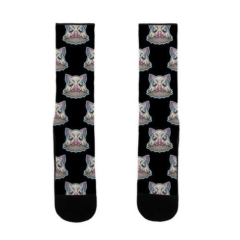 Inosuke Mad Boar Pattern Sock