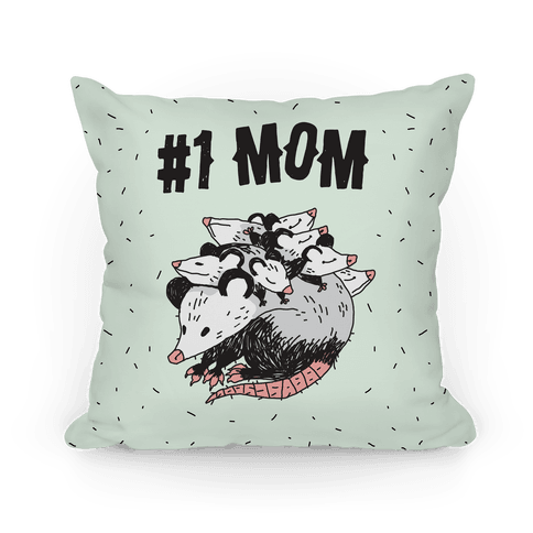 #1 Mom Opossum Pillow