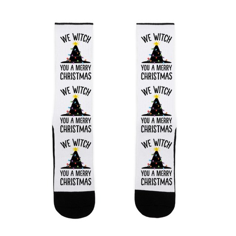 We Witch You A Merry Christmas Sock