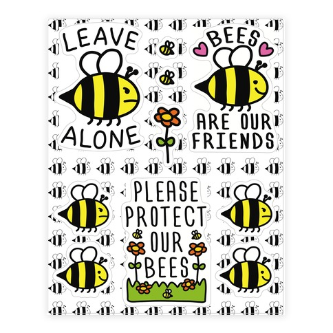 Leave Bee Alone Sticker Sheet Sticker/Decal Sheet