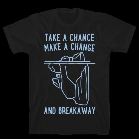 Breakaway Iceberg Parody White Print Mens T-Shirt