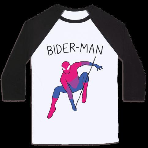 Bider-Man Parody Baseball Tee