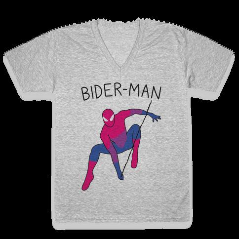 Bider-Man Parody V-Neck Tee Shirt