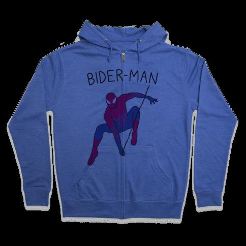 Bider-Man Parody Zip Hoodie