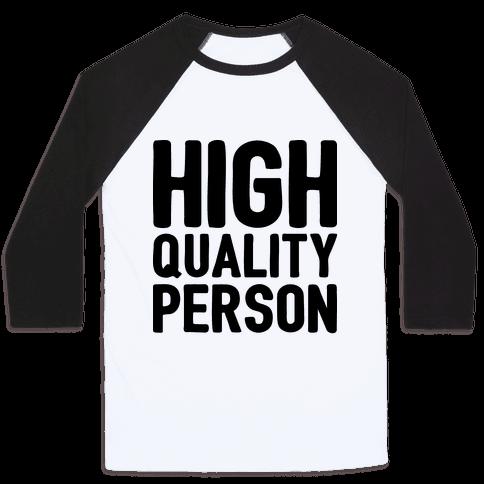 High-Quality Person Baseball Tee