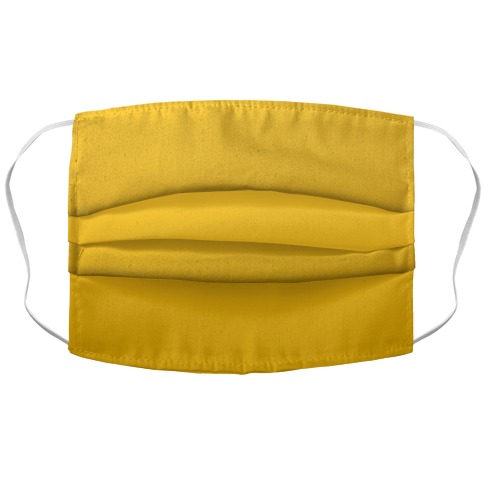 Gold Gradient Accordion Face Mask