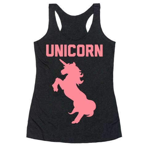 Unicorn Sister Pair 1 Racerback Tank Top