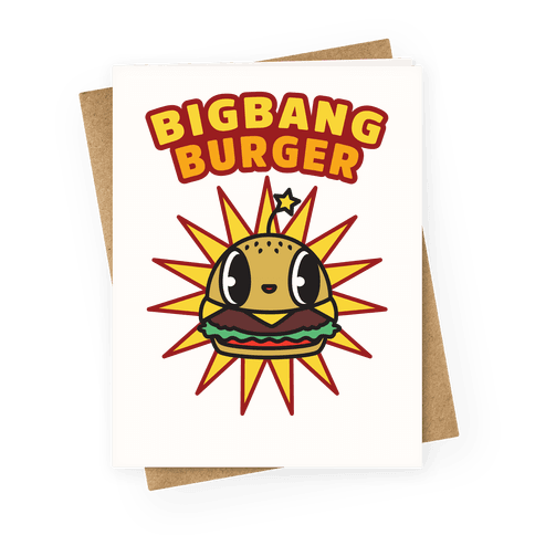 Big Bang Burger Greeting Card