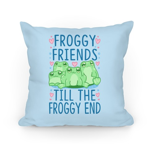 Froggy Friends Till The Froggy End Pillow