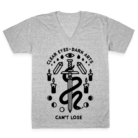 Clear Eyes Dark Arts Can't Lose V-Neck Tee Shirt