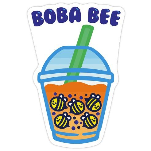 Boba Bee Die Cut Sticker