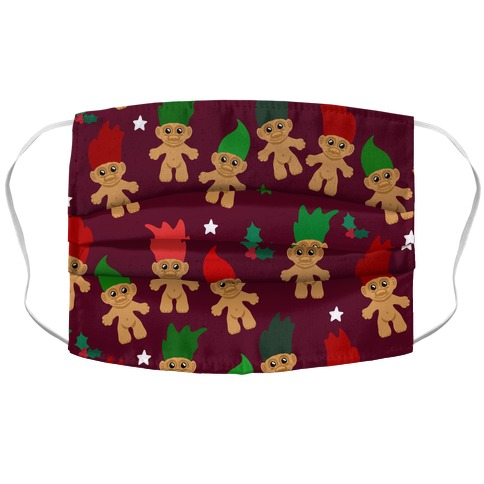 Christmas Trolls Pattern Accordion Face Mask