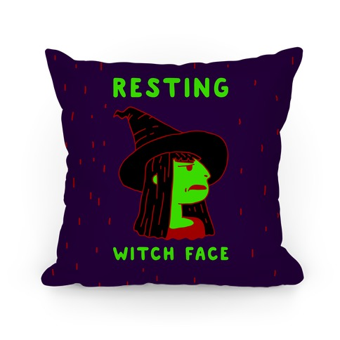 Resting Witch Face Pillow