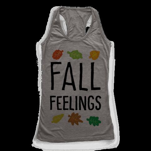 Fall Feelings Racerback Tank Top