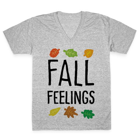 Fall Feelings V-Neck Tee Shirt