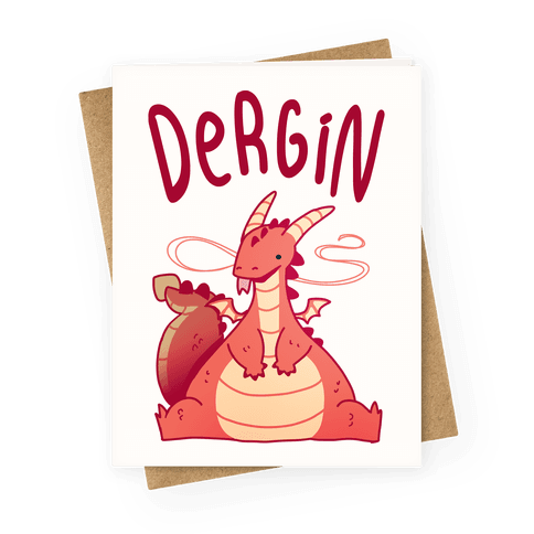 Dergin Greeting Card