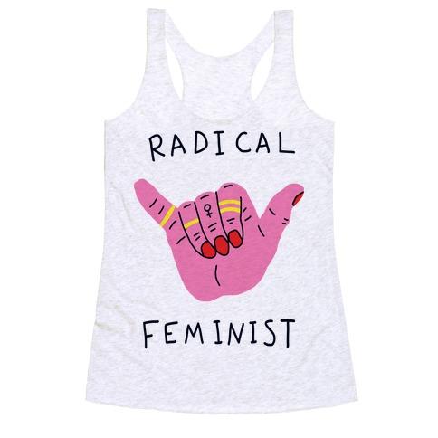 Radical Feminist Racerback Tank Top