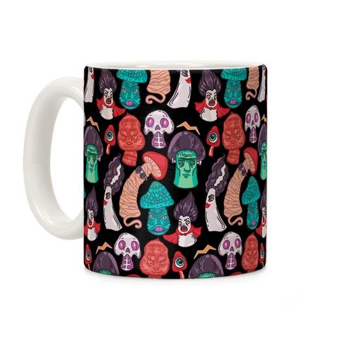 Mushroom Monsters Pattern Coffee Mug