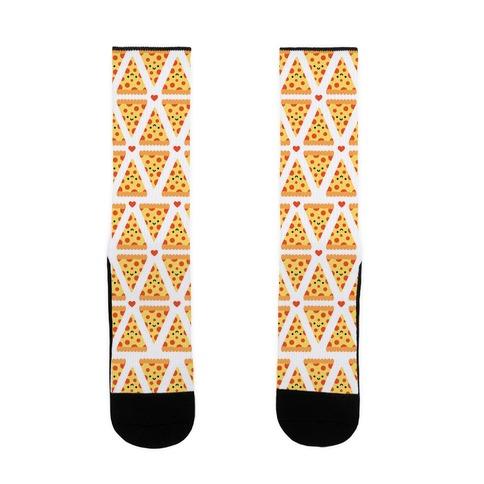Cute Pizza Pattern Sock