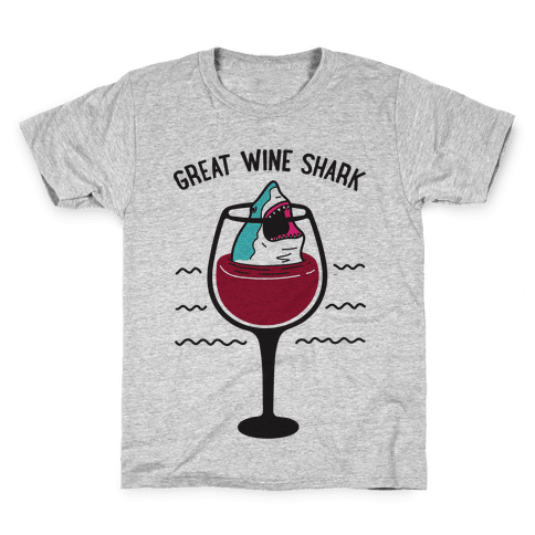Great Wine Shark Kids T-Shirt