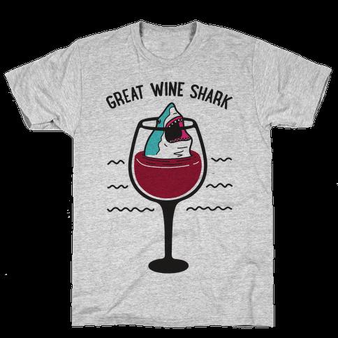 Great Wine Shark Mens/Unisex T-Shirt