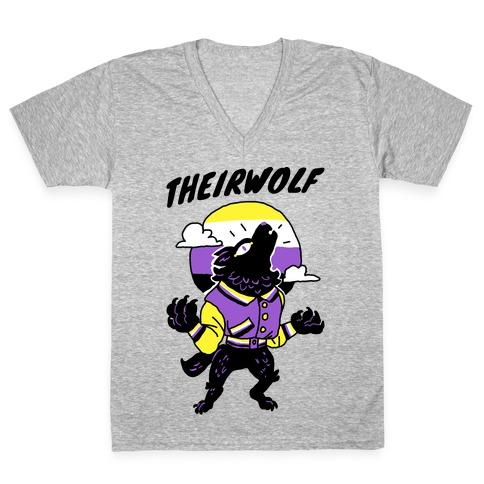 Theirwolf V-Neck Tee Shirt