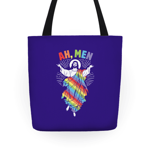 Ah, Men Gay jesus Tote
