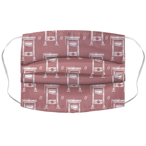 Guillotine Pattern Pink Accordion Face Mask
