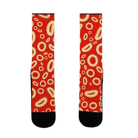 Spaghettios Pattern Sock