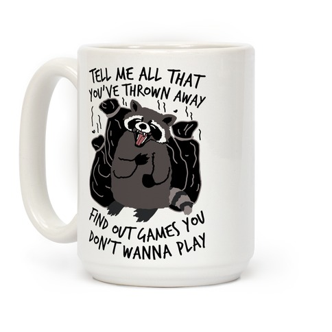 Dirty Little Secret Emo Raccoon Coffee Mug
