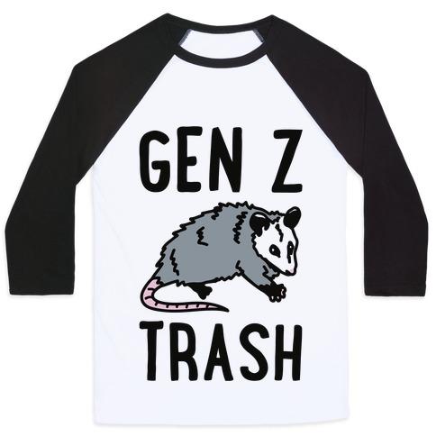 Gen Z Trash Baseball Tee