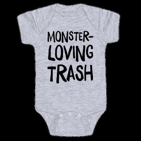 Monster-Loving Trash Baby Onesy