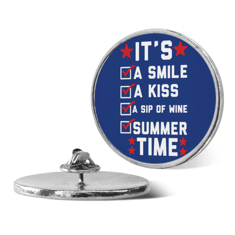 It's Summer Time pin
