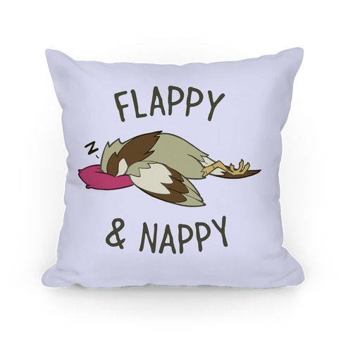 Flappy And Nappy Pillow