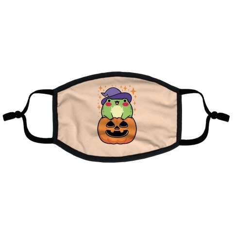 Cute Halloween Frog Flat Face Mask
