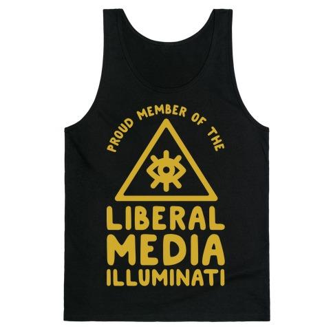 Liberal Media Illuminati Tank Top