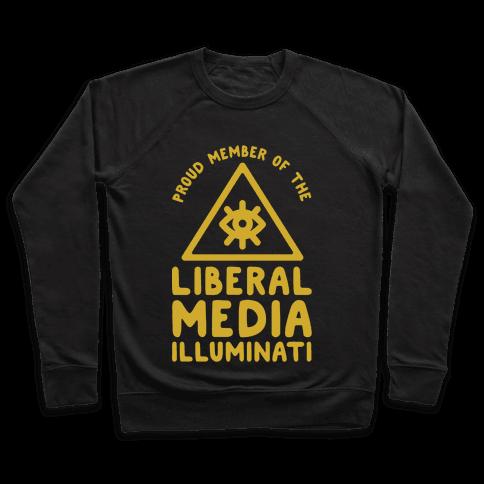 Liberal Media Illuminati Pullover