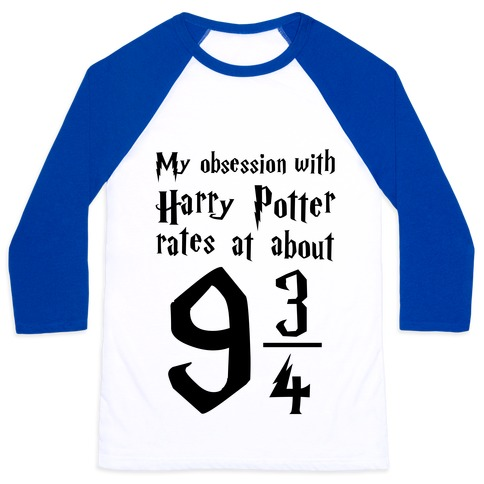 Harry Potter Obession Baseball Tee