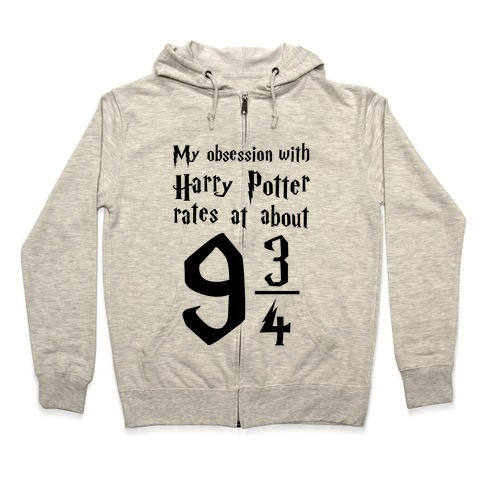 Harry Potter Obession Zip Hoodie
