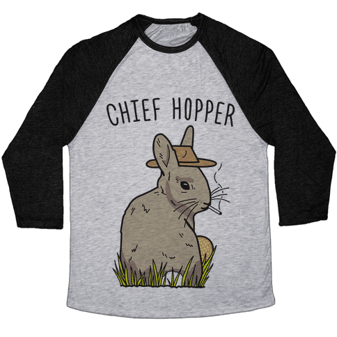 Chief Hopper Parody Baseball Tee