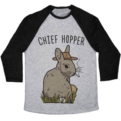 Chief Hopper Parody Baseball Tee