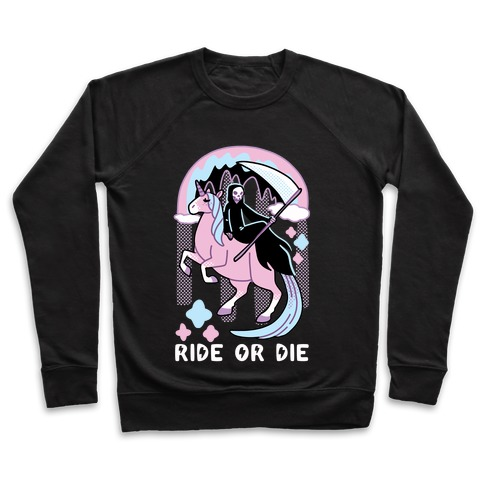 Ride or Die - Grim Reaper and Unicorn Pullover
