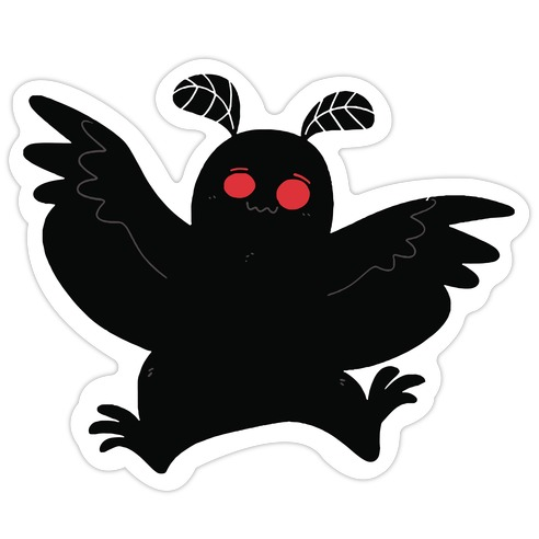 Mothman Believes in You Die Cut Sticker