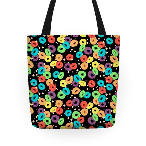 Spacey Fruity Cereal Tote