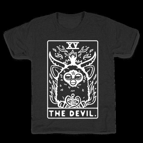 The Devil Tarot Card Furby Kids T-Shirt