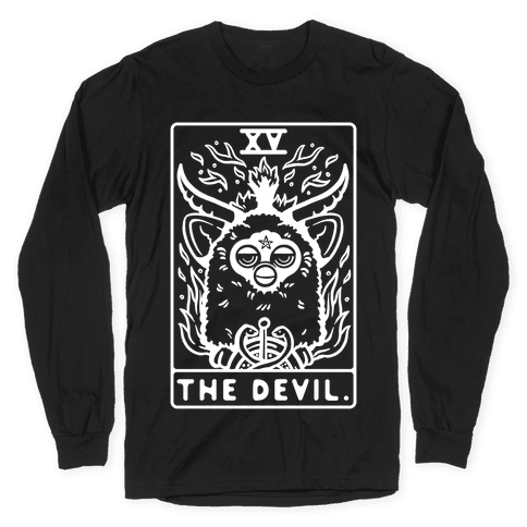 The Devil Tarot Card Furby Long Sleeve T-Shirt