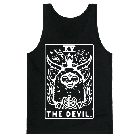 The Devil Tarot Card Furby Tank Top